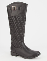 CELEBRITY NYC Womens Quilted Riding Boots