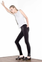 LnA Zipper Legging Pants in Black Licorice