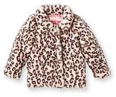 Hawke & Co Hawke Co Girls' 2T-6X Pink Leopard Print Faux Fur Jacket