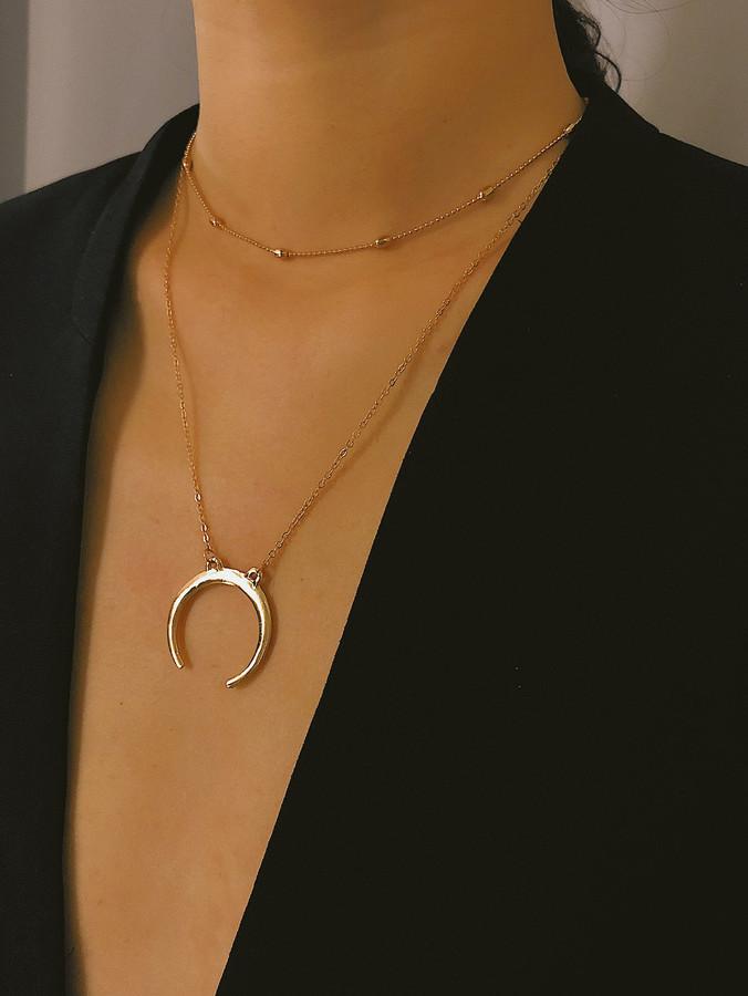 986d084059 Gold Metal Choker - ShopStyle