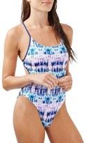 Topshop Women's Tie Dye One-Piece Swimsuit