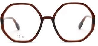 Christian Dior Diorsostellaire05 Heptagonal Acetate Glasses - Womens - Burgundy