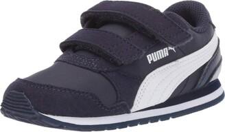 Puma Unisex ST Runner Velcro Sneaker Peacoat White 12 M US Little Kid