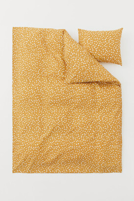 H&M Patterned Duvet Cover Set - Yellow