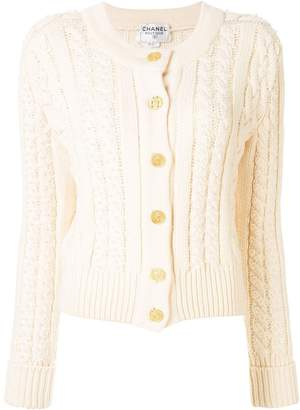 Chanel Pre-Owned CC cable knit cardigan