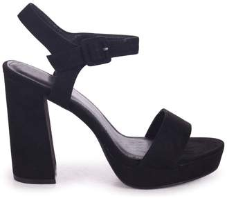 Barely There Linzi ARETHA - Black Suede Platform Heel