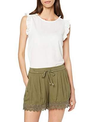 Only Women's Onlsevanna Shorts WVN, Green Kalamata, 8 (Size: )