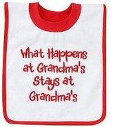 """Koala Baby What Happens At Grandma's Stays at Grandma's"""" Pullover Bib"""
