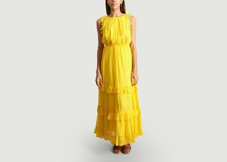Tara Jarmon Ruffle Maxi Dress - 36