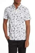Perry Ellis Light Floral Shirt