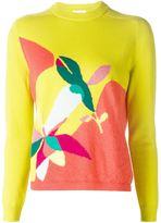 DELPOZO intarsia print sweater