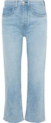 Rag & Bone Maya Cropped Frayed Mid-rise Bootcut Jeans