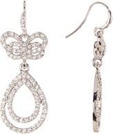 Carolee Pave Bow Dangle Earrings
