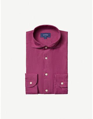 Eton Contemporary-fit linen shirt