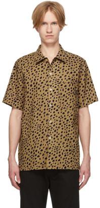 Paul Smith Tan Cheetah Short Sleeve Shirt