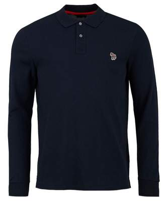 Paul Smith Long Sleeved Zebra Regular Fit Polo Colour: BLACK, Size: SM