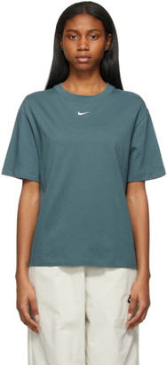 Nike Blue Sportswear Essential Swoosh T-Shirt