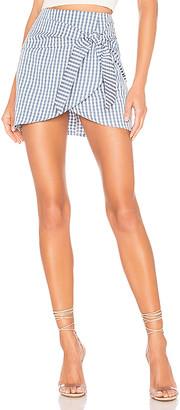 superdown Karina Front Tie Skirt