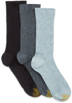 Gold Toe Women's 3-Pk. Non-Binding Extended Size Crew Socks