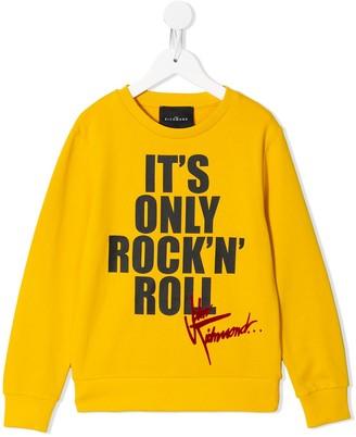 John Richmond Junior Rock'n Roll print sweatshirt