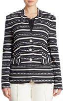Basler, Plus Size Textured & Striped Blazer