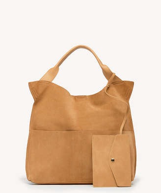 Sole Society Women's Jamari Tote Genuine Suede Over Canyon Genuine Suede Vegan Leather From