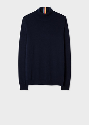 Paul Smith Women's Navy Cashmere Roll-Neck Sweater