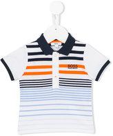 Boss Kids - striped polo shirt - kids - Cotton/Spandex/Elastane - 3 mth
