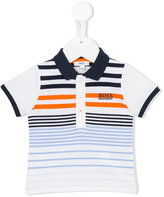 Boss Kids striped polo shirt