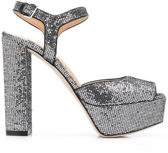 Sergio Rossi Open Toe Platform Sandals
