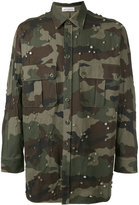 Faith Connexion jewel studded camouflage shirt - men - Cotton/Polyester/Brass/glass - S
