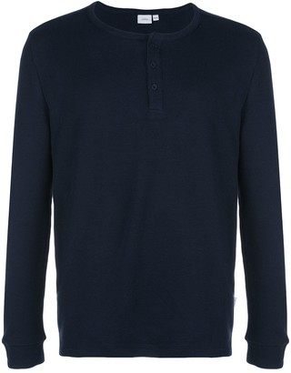 Onia Miles Waffle Knit Henley jumper