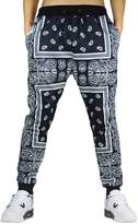 Westkun Men's 3d Printed Bandana Jogger Sweatpants Sportwear, Black White