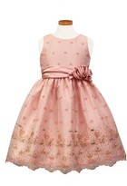 Sorbet Girl's Flower Embroidered Party Dress