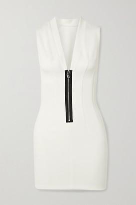 RtA Lorna Stretch-scuba Mini Dress - White