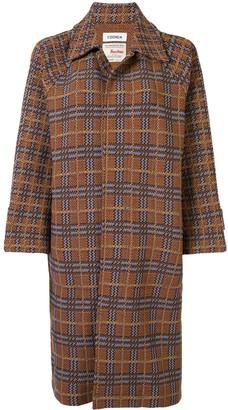 Coohem Retro Check Tweed Coat