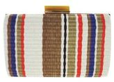 Sondra Roberts Stripe Chain Clutch