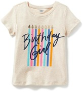 Old Navy Long & Lean Birthday-Graphic Tee for Toddler Girls