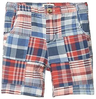 Hatley Madras Plaid Shorts (Toddler/Little Kids/Big Kids) (Blue) Boy's Shorts