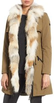 Dawn Levy 'Mackenzie' Parka with Genuine Fox Fur Trim