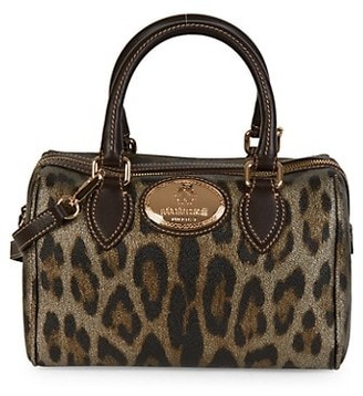 Roberto Cavalli Leopard-Print Top Handle Bag