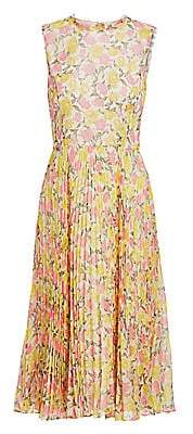 Jason Wu Collection Women's Floral Plissé Chiffon Midi Dress