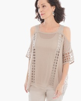 Chico's Shoulder Detail Janice Pullover