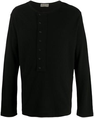Yohji Yamamoto button placket jumper