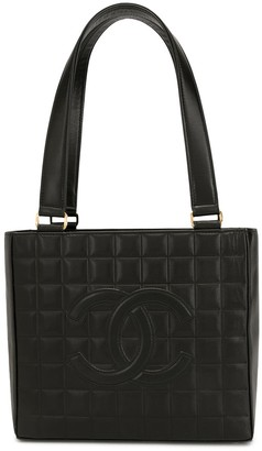 Chanel Pre Owned Choco Bar CC tote