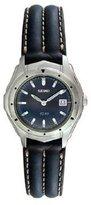 Seiko Women's 28mm Leather Stainless Steel Case Hardlex Quartz Watch SXC407