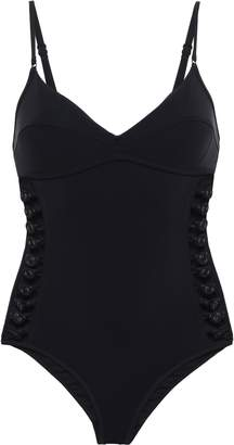 Zimmermann Melody Bullet Cutout Button-detailed Swimsuit