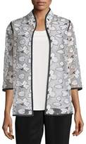 Caroline Rose Magnolia Organza 3/4-Sleeve Jacket
