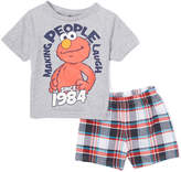 Children's Apparel Network Sesame Street Elmo Gray '1984' Tee & Shorts - Infant & Toddler
