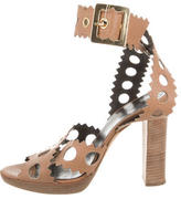 Pierre Hardy Leather Cutout Sandals